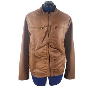 Maxwell Studio 3X brown faux leather jacket